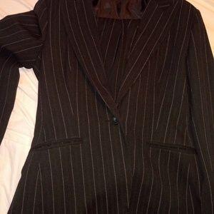Norma kamali pin striped business suit sz 10 woman
